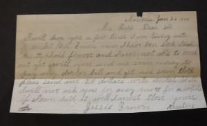 Letter from Jessie Brown
