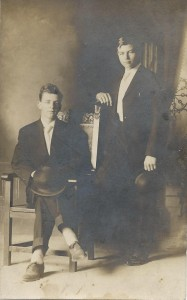 Unidentified young men