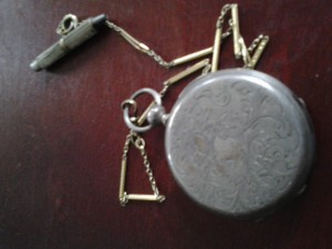 Back side of Tobias pocket watch